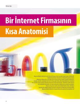 """Bir İnternet Firmasının Kısa Anatomisi: Google"" (A Brief Anatomy of"