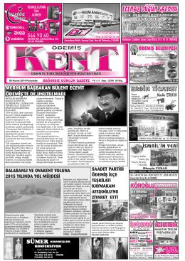 06-11-2014 Tarihli Kent Gazetesi