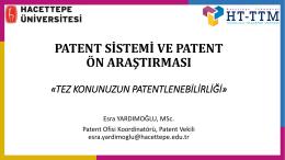 patent_on_arastırması_semıner_1 - Hacettepe Teknoloji Transfer