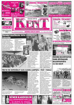 10-12-2014 Tarihli Kent Gazetesi