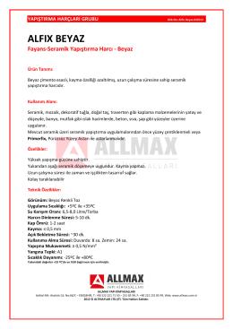 ALFIX BEYAZ - Allmax Yapı Kimyasalları