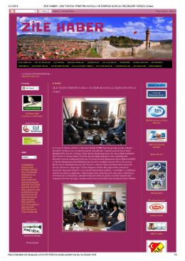 ZİLE HABER - Zile Ticaret ve Sanayi Odası