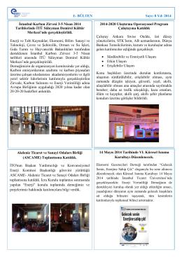Mayıs 2014 - Enerji Verimliliği Derneği