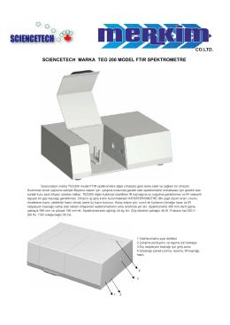 scıencetech marka teo 200 model ftır spektrometre