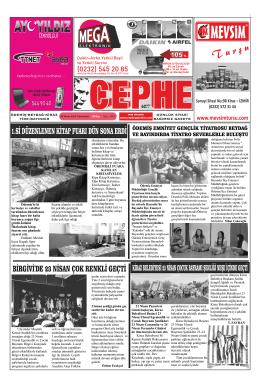 26.04.2014 Tarihli Cephe Gazetesi