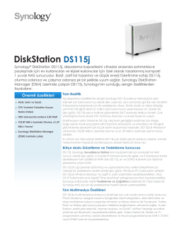 Synology DS115J Broşür