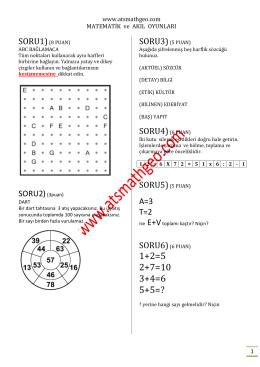 004 matematik ve akıl oyunları