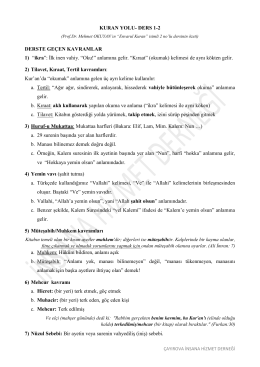 Ders 1-2 - İnsana Hizmet Derneği