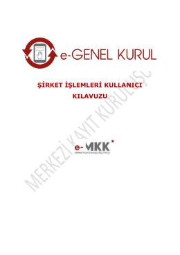 MKK EGKS şirket işlemleri kullanıcı kılavuzu