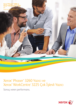 Phaser 3260 Yazıcı / WorkCentre 3225 Çok İşlevli Yazıcı