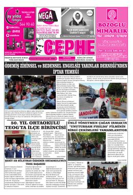 12.07.2014 Tarihli Cephe Gazetesi