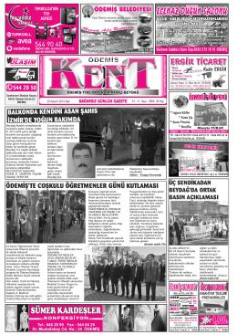 25-11-2014 Tarihli Kent Gazetesi