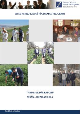 Tarım Sektör Raporu Nisan - Haziran 2014