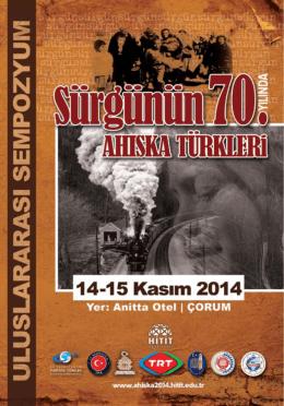 Untitled - Sürgünün 70. Yılında Ahıska Türkleri Uluslararası