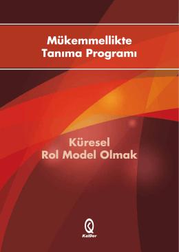 Mükemmellikte Tanıma Programı Küresel Rol Model Olmak