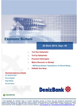 20 Ekim 2014 - Deniz Yatırım