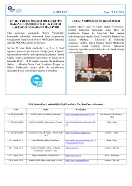 Kasım 2014 - Enerji Verimliliği Derneği