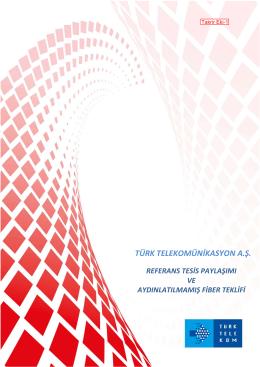 türk telekomünikasyon a.ş. referans tesis paylaşımı ve