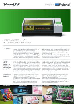 LEF-20 Broşür - OTS Dijital Baskı Çözümleri