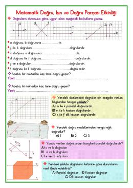 3.sınıf Matematik (doğru-ışın-doğru parçası)
