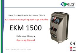 EKM 1500 Kullanma Kılavuzu