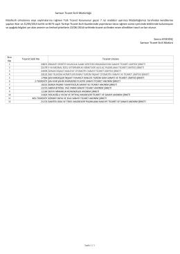 münfesih 22 08 2014 terk listesi - Samsun Ticaret ve Sanayi Odası