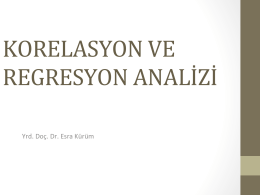 KORELASYON VE REGRESYON ANALİZİ