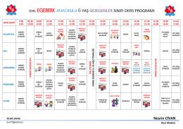 GEZEGENLER 2015 Yılı Ders Programı