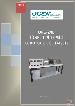 okg-240 tünel tipi tepsili kurutucu eğitimseti
