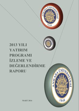 2013 Yılı - Strateji Geliştirme Daire Başkanlığı