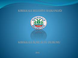 Kırıkkale İçme Suyu Durumu, Kırıkkale Belediyesi