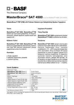 MasterBrace® FRP (FIB) Lifli Polimer Sistemi için