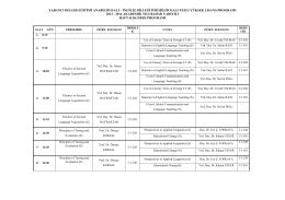 2013-2014_BAHAR_DERS PROGRAMİ