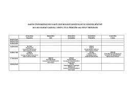 Arasınav Programı (2013-14 bahar)