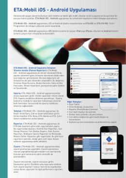 ETA:Mobil iOS - Android Uygulaması