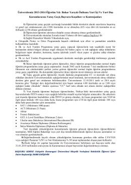 Üniversitemiz 2013-2014 Öğretim Yılı Bahar Yarıyılı