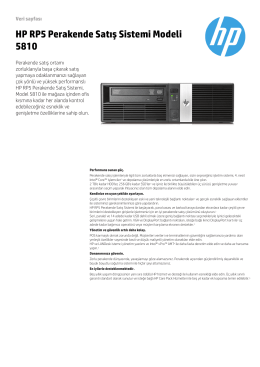 HP RP5 Perakende Satış Sistemi Modeli 5810