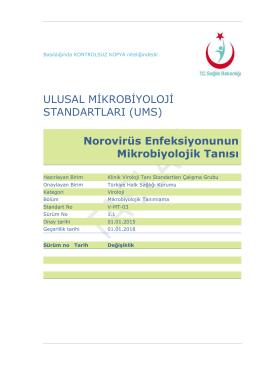 Norovirus enfeksiyonu - Türkiye Halk Sağlığı Kurumu