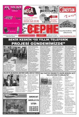 13.03.2014 Tarihli Cephe Gazetesi