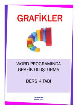 word programında grafik oluşturma ders kitabı
