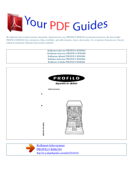 Kullanma talimati PROFILO BM6284
