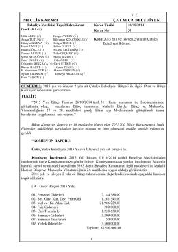 10.10.2014-_50_ 2015 Yılı ve izleyen 2 yıla ait Bütçe