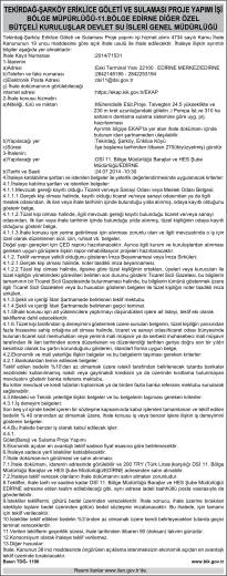 11. bölge edirne- devlet su işleri genel müdürlüğü