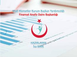 PowerPoint Sunusu - Türkiye Kamu Hastaneleri Kurumu