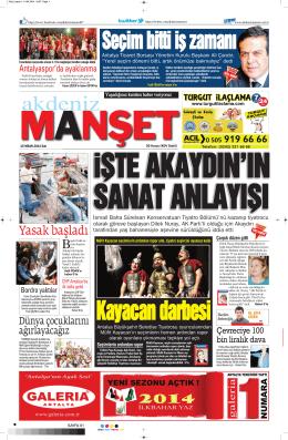 Yasak başladı - Akdeniz Manşet