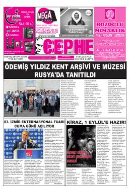 25.08.2014 Tarihli Cephe Gazetesi