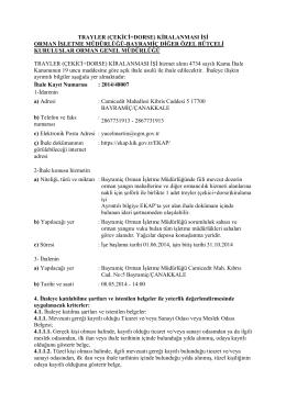 Treyler İhale İlanı -2014-48007 İKN -