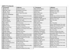 QDIS13 Participants