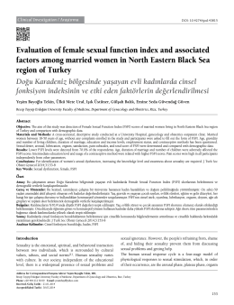 Evaluation of female sexual function index and