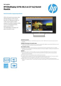 HP EliteDisplay S270c 68,6 cm (27 inç) Kavisli